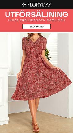 Det här är basklänningen för varje dag. Floryday Dresses, Dresses For Work, Party Dress, Short Sleeve Dresses, Suits, Casual, Shopping, Design, Style