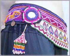 Tribal belly dance Belt by LolenaLuna on Etsy