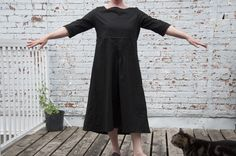 Home made, home designed linen dress