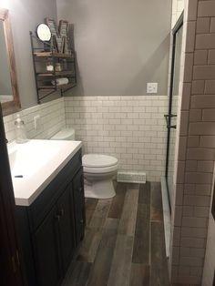 Wood Ceramic Tile Bathroom