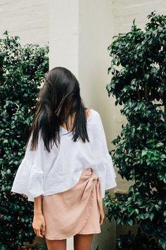 Wrap Skirt - Blush — Hunter The Label