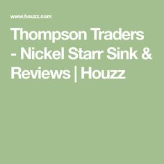 Thompson Traders - Nickel Starr Sink & Reviews | Houzz Thompson Traders, Bar Sink Faucet, Contemporary Bathroom Sinks, Houzz