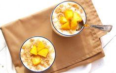 Túrós-őszibarackos pohárdesszert Cantaloupe, Muffin, Diet, Fruit, Food, Yogurt, Essen, Muffins, Meals
