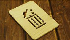 emoticon door sign  이모티콘 도어 싸인 - 휴지통