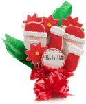 This delicious Christmas cookie bouquet is made from our famous sugar vanilla cutout cookies