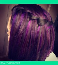 Purple highlights | Kasey N.s Photo | Beautylish