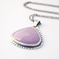 Sterling silver pendant necklace with phosphosiderite oxidized patina gemstone tribal on Etsy, $62.54 CAD