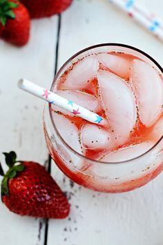 Sparkling Strawberry Lemonade!