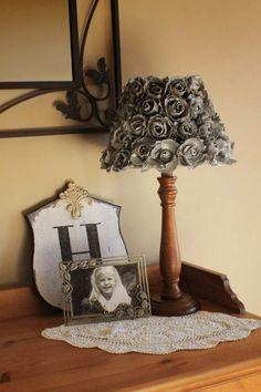 Godzgear Blog: Egg Carton Roses and a Gorgeous DIY Lamp Shade!