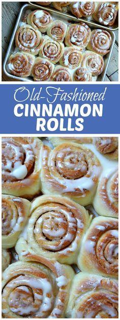 Old Fashioned Cinnamon Rolls recipe - from RecipeGirl.com
