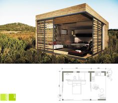 ECOMO - Live | Sleep | Play - My concept Prefab Cabins, Prefab Homes, Modular Homes, Small Tiny House, Tiny House Cabin, Small Buildings, Beautiful Buildings, Eco Architecture, House Design