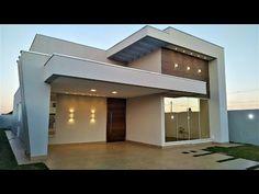 Casa Térrea MODERNA ALTO PADRÃO, Projeto Moderno, Tour Completo, Condomínio Fechado em Brasília/DF - YouTube Modern House Facades, Modern Architecture House, Simple House Design, Modern House Design, M And S Home, Modern Minimalist House, Facade House, My House, Sweet Home