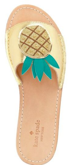 Cute kate spade pineapple sandals