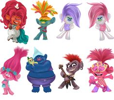 Trolls Birthday Party, Troll Party, Troll Halloween Costume, Troll Cupcakes, Cartoon Caracters, 2 Clipart, Abstract Iphone Wallpaper, Disney, Easy Drawings
