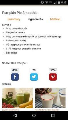 Pumpkin pie smothie