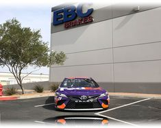 FedEx bring their NASCAR to EBC Brakes USA Inc. EBC Brakes USA inc. were over the moon this week when the FedEx NASCAR Team paid a visit to the Las Vegas Warehouse facility. The FedEx Toyota Camry NASCAR racing car visited EBC as a 'thank you' for continued successful business with the worldwide, fast and reliable delivery company.