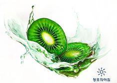 기초디자인 건국대 기디 입시미술 기초디자인 개체묘사 키위 물 일러스트 디자인 Food Sketch, Copic, Woodworking Crafts, Art School, Green Colors, Colored Pencils, Art Drawings, Sketches, Watercolor