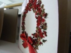 Pack of 4 Wreath Christmas Cards £4.00