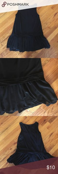 black top with detailed bottom perfect condition! Long black top that can be worn with pants or leggings or shorts! Dress it up or down! Perfect condition. Tag is cut off but from forever 21 Forever 21 Tops Blouses