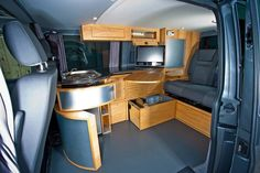 Awesome Picture of Best Camper Van Interior. Best Camper Van Interior Awesome Small Camper And How To Repair It Nice Car Campers T4 Camper Interior Ideas, Campervan Interior, Rv Interior, Campervan Ideas, Modern Interior, Volkswagen Bus, Volkswagen Interior, Vw T5, Bus Camper