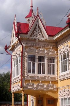 Russia Travel Packages - Specialists in Outstanding Russia Tours Wooden Architecture, Russian Architecture, Classical Architecture, Beautiful Architecture, Architecture Details, Interior Architecture, Vitrier Paris, Double Vitrage, Wooden House