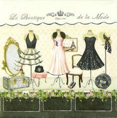 4 x Single Luxury Paper Napkins for Decoupage and Craft VintageLa Boutique | eBay
