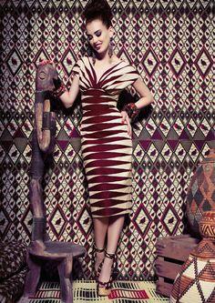 """Massai Dress blood stripes"" www.lenahoschek.com"