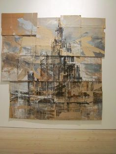 """amazing work at Saatchi by Valery Koshlyakov """"Grand Opera,Paris"""" Tempera on cardboard. a treat to see Painting Collage, Painting & Drawing, Paintings, Gcse Art Sketchbook, Sketchbooks, Sketching, Distortion Art, Art Niche, Architecture Artists"""