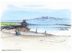 Arran from Saltcoats -  Dorothy Bruce