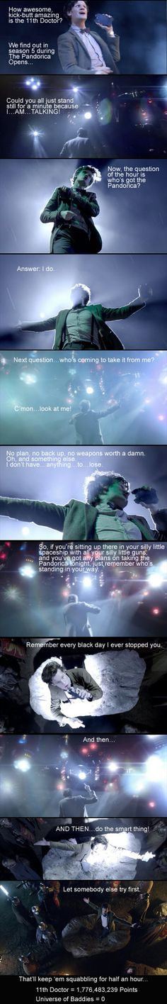 Famous Kick-Butt Doctor Speeches #587... 11th Doctor -- Series 5 The Pandorica Opens episode. #DoctorWho