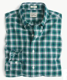 NWT$59 Men/'s XL Classic Fit Khaki//Blue Striped Secret Wash Shirt J.Crew