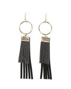 Claire Faux Suede Fringe Earrings