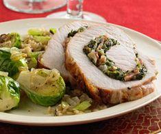 Rolled Spinach Pork Loin