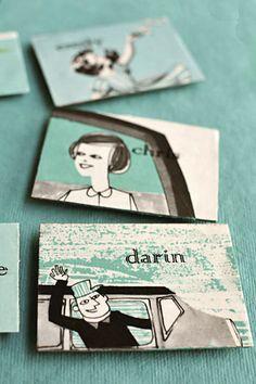 DIY Fridge Magnets made from vintage children's books