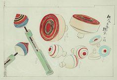 Spinning Tops Illustration