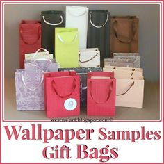 Make Gift Bags from wallpaper samples or even old calendars ~ Wesens-Art