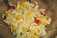Curry - Reissalat mit Mais und Paprika (Rezept mit Bild)   Chefkoch.de