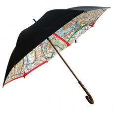Dont get caught out on a rainy day without one of these uber cool umbrellas. Black on the outside to match with any outfit that you may be wearing and they have a Melway map print on the inside. Made to a classic umbrella desig Cool Umbrellas, Umbrellas Parasols, Parisienne Chic, Outside Canopy, Morris Gleitzman, Melbourne Map, Caught Out, Gps Map, Singing In The Rain