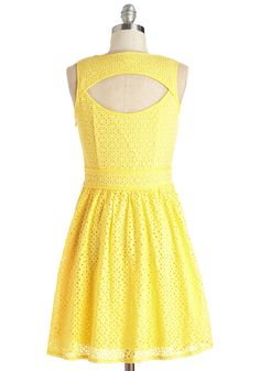 Sun of a Kind Dress. When you pair your peppy demeanor with this vibrant yellow dress, the result is a rare gem! #yellow #modcloth