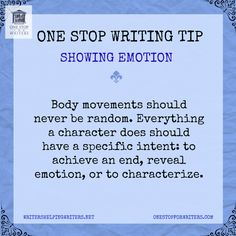 One Stop For Writers Emotional Showing Tip