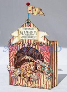 Big Top Circus Tunnel Book - PAPER CRAFTS, SCRAPBOOKING & ATCs (ARTIST TRADING CARDS)