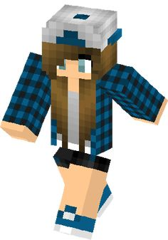 minecraft skins for girls with hats - Google Search