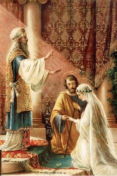 OMG!!! I must pin this! The most beautiful thing I have ever seen! Marriage of Mary and Joseph