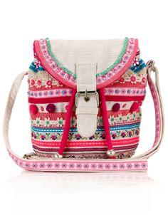 Embroidered Ethnic Mini Across Body Bag | Multi | Accessorize