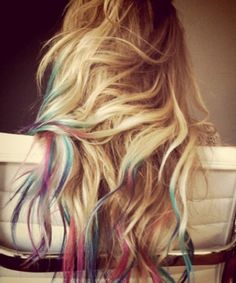 rainbow highlights! I want to try this!
