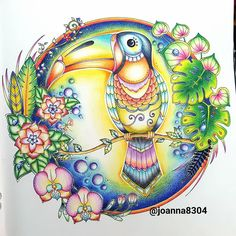 Inspirational Coloring Pages by Secret Garden Coloring Book, Coloring Book Art, Colouring Pages, Adult Coloring, Magical Jungle Johanna Basford, Joanna Basford, Hanna Karlzon, Johanna Basford Coloring Book, Colored Pencil Techniques