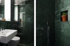 Green Marble Bathroom - Bellmansgatan 32 - Eklund Stockholm New York