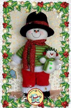 Muñeco de nieve papá con bebé nieves