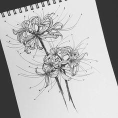 flowers from anime 'Tokyo ghoul' lycoris radiata - flowers from anime 'Tokyo ghoul' lycoris radiata - Mini Tattoos, Flower Tattoos, Body Art Tattoos, Small Tattoos, Tokyo Ghoul Flower, Tattoo Drawings, Art Drawings, Tokyo Ghoul Drawing, Red Spider Lily