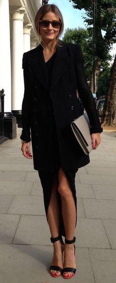 Olivia Palermo at London Fashion Week. Wearing a Rachel Zoe vest 3eac17bd06633
